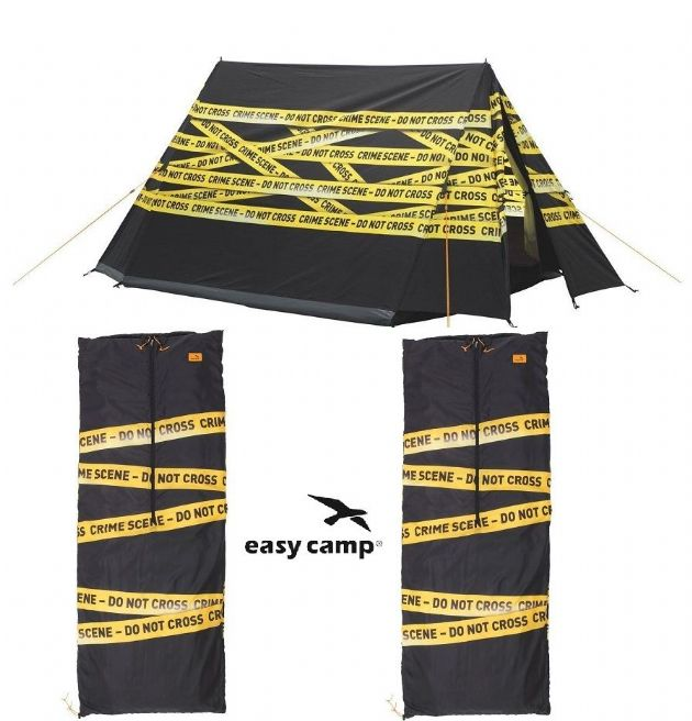 Camping Package Deal - Easy Camp Image Crime Scene Tent with  2 Sleeping Bags - Grasshopper Leisure